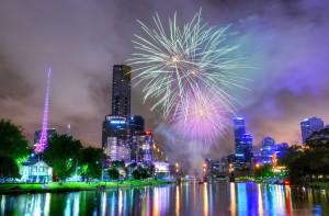 Diwali Fireworks, Melbourne, Australia (wikimedia commons)